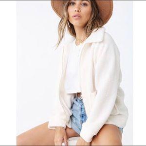 Fur zip up jacket